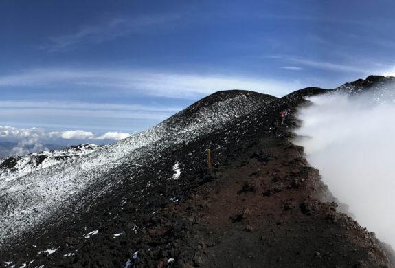 Premiers flocons sur l'Etna