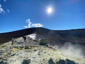 Fumerolles sur le cratère de Vulcano