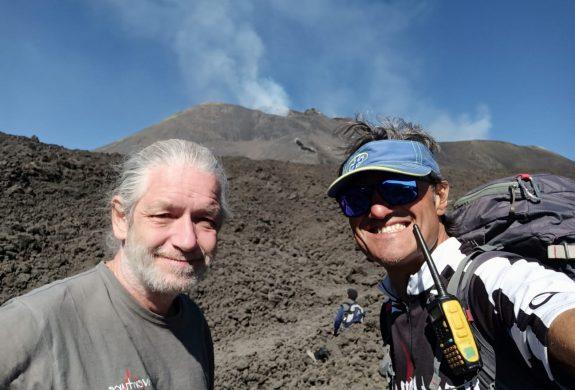 Tanguy et Giuseppe sur l'Etna