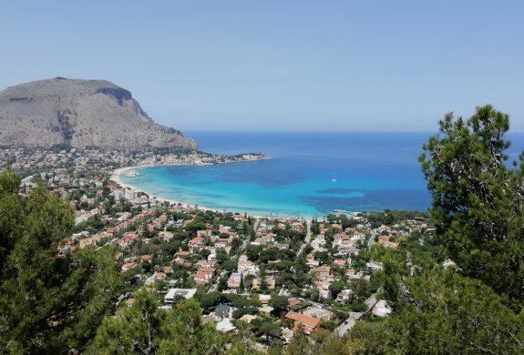Mondello vue de Monte Pellegrino